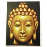 Obraz Hlava buddhy - hnědý - velký