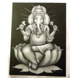 Obraz Ganesha - šedý
