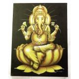 Obraz Ganesha - zlatý