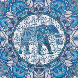 Přehoz Modrá mandala