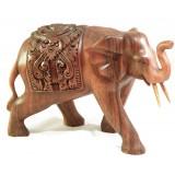 Slon zdobený - dřevořezba