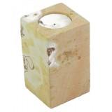 Kamenný svícen - kostka